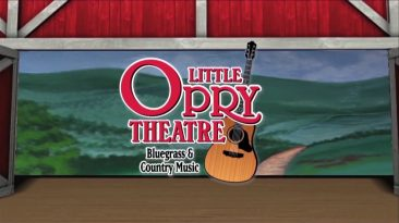 Little Opry Theatre logo with guitar