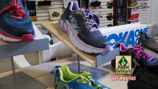 A tennis shoe store display, Jigglin' George's, 685 Hwy 165