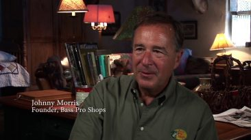 Johnny Morris, Founder of Bass Pro Shops, sitting in an office